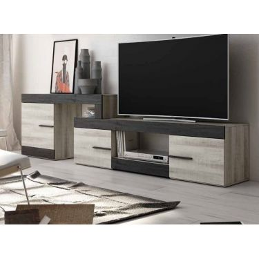 MUEBLE BAJO PARA TV DE ESTILO MODERNO Y DE LONGITUD VARIABLE. SD011