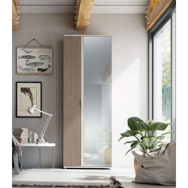 Armario zapatero grande con espejo recto 2 metros alto XXL - H-3126
