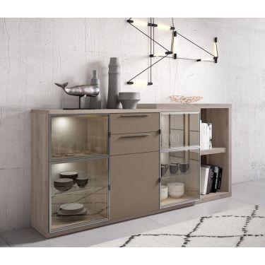 Mueble aparador moderno con vitrina - CK5/AP08/D1