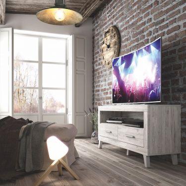 MESA PARA TV  DE 1.30 m. CON 2 CAJONES Y 1 HUECO. MO18.200+7810