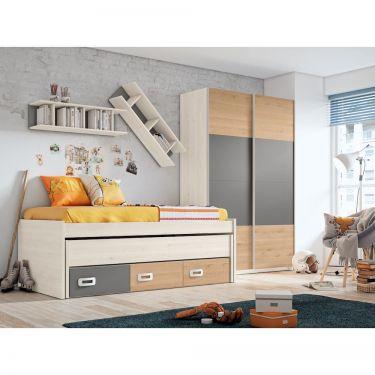 Dormitorio juvenil moderno con armario-  JN19C014
