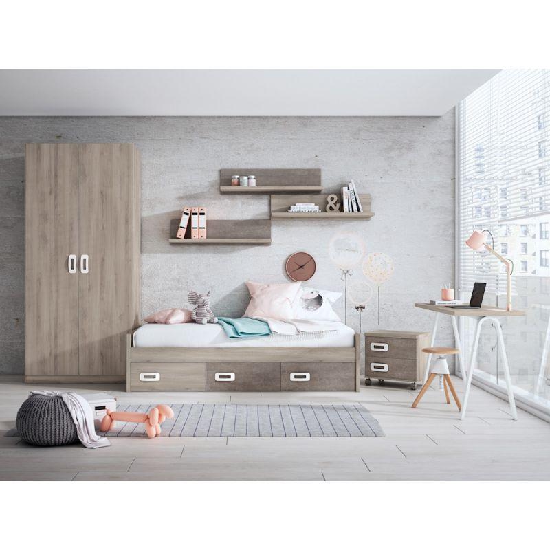 Dormitorio juvenil moderno barato- JN19C018