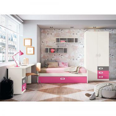 Dormitorio juvenil moderno barato-  JN19C019