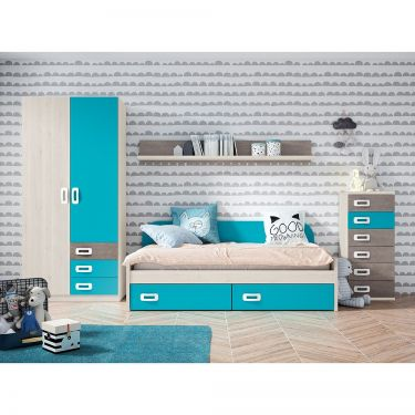 Dormitorio juvenil moderno barato-  JN19C020