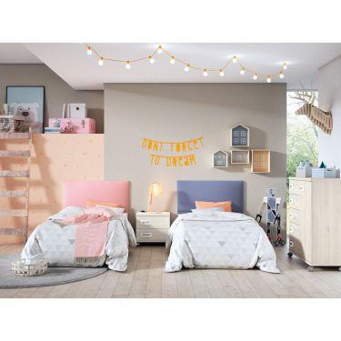 Dormitorio juvenil barato con cabeceros-  JN19C022
