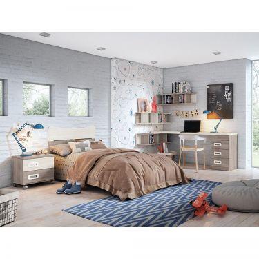 Dormitorio juvenil barato con cabecero-  JN19C023