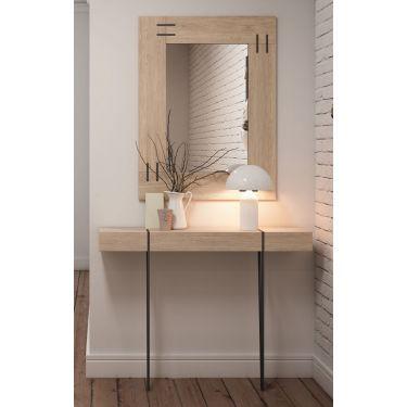 Mueble recibidor moderno con espejo - 1204 / 7206