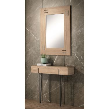 Mueble recibidor moderno con cajón y con espejo - 1207 / 7206