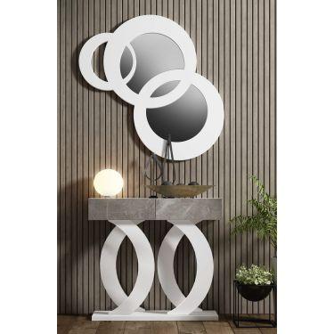 Mueble recibidor moderno con cajones y con espejo - 1210 / 7210