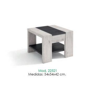 MESA DE RINCÓN FIJA DE MADERA DE 54 X 54 X 42 CM. 22521