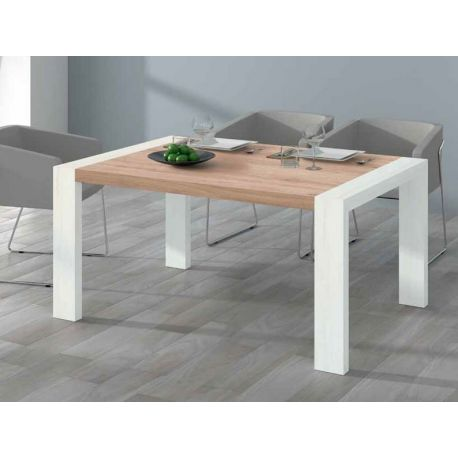 302. MESA DE COMEDOR EXTENSIBLE DE 144 X 90 CM. COLOR ROBLE/POLAR