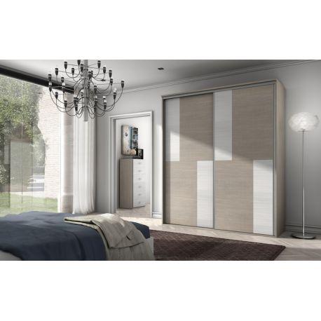 120 armario de puertas correderas colores roble legno - Armario 120 puertas correderas ...