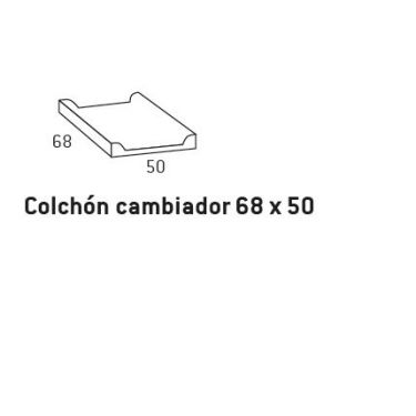 0027.COLCHÓN PARA CAMBIADOR  68 x 50 cm.