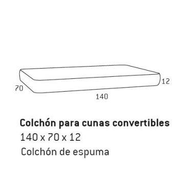8111.COLCHÓN PARA CUNA DE 140  CM. DE ESPUMA