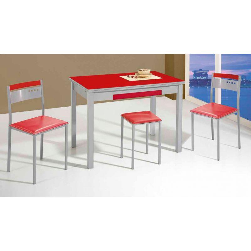 669 mesa de cocina extensible de 110 x 70 cm color for Mesa cristal 110 x 70