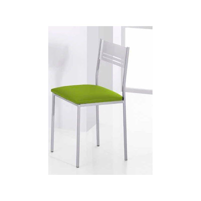 754 silla de cocina met lica color aluminio negro for Dormitorios matrimonio color roble